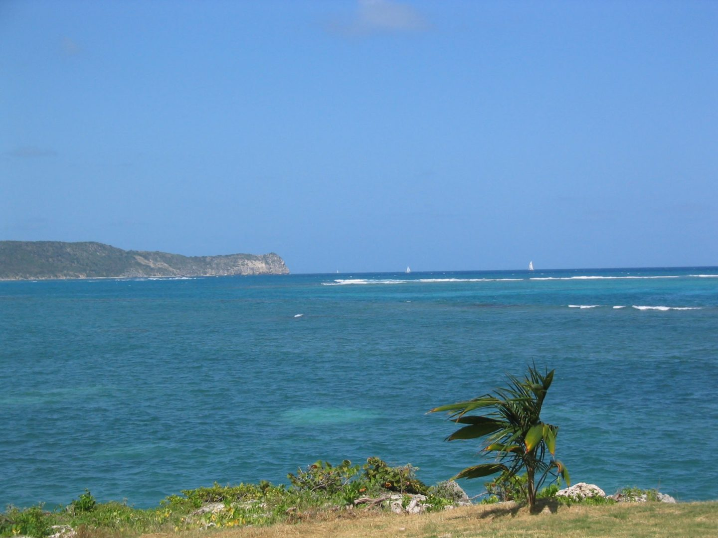Views across Coco Beach, Antigua