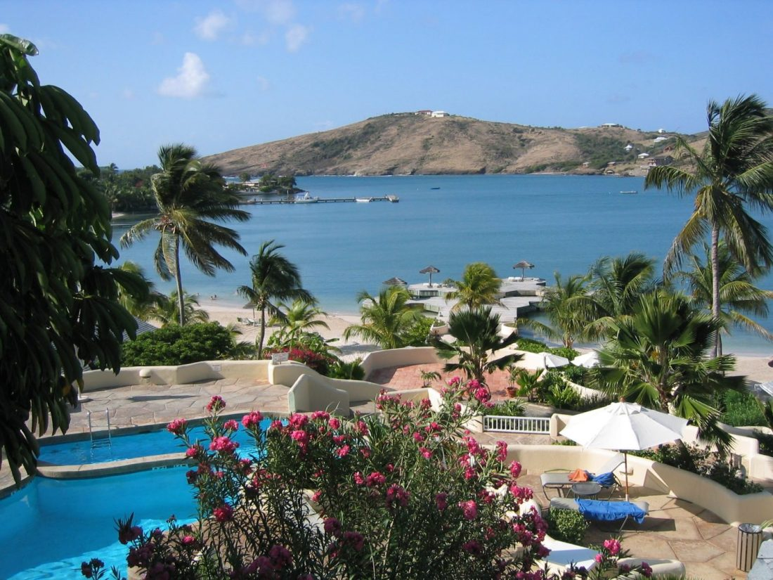 Swimming pool at St James's Club, Antigua