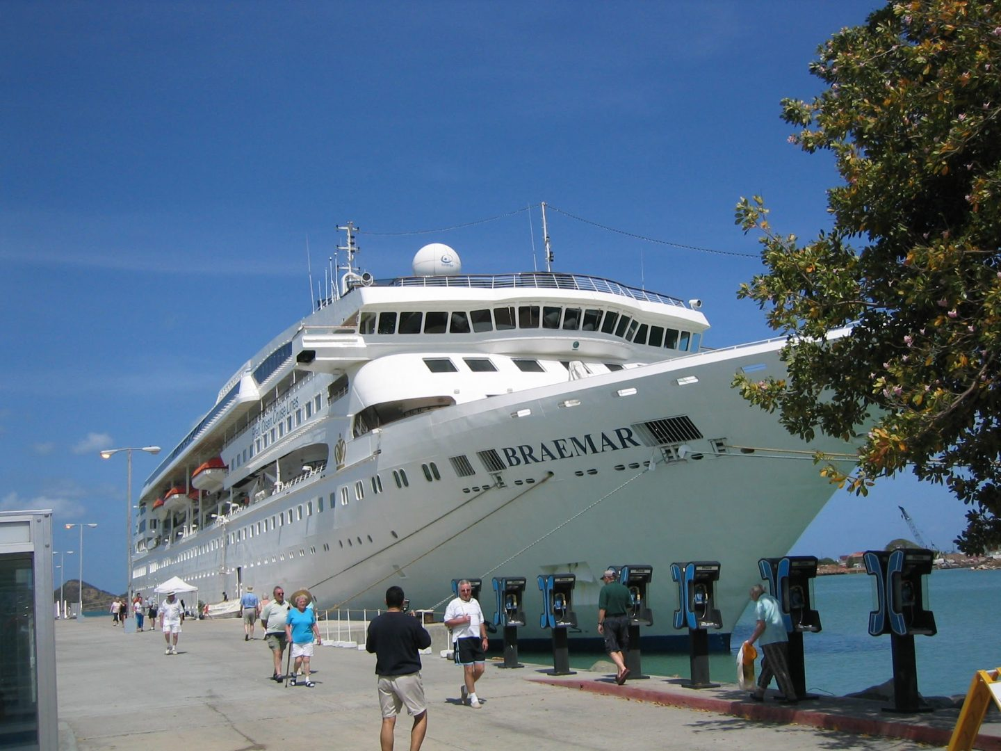 Cruise ship in Saint John's, Antigua