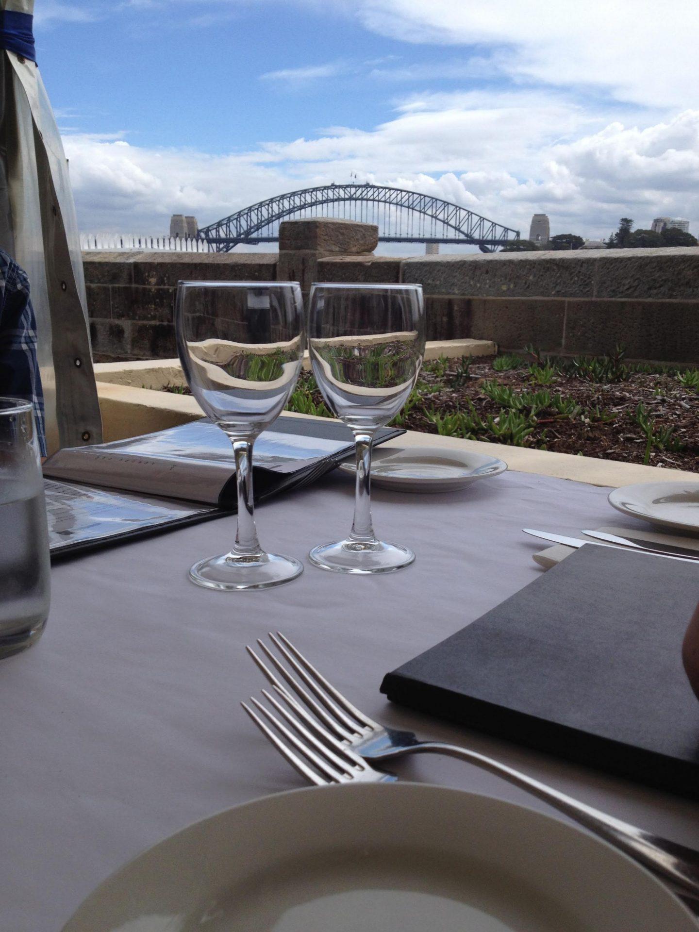 Fort Denison restaurant, Sydney