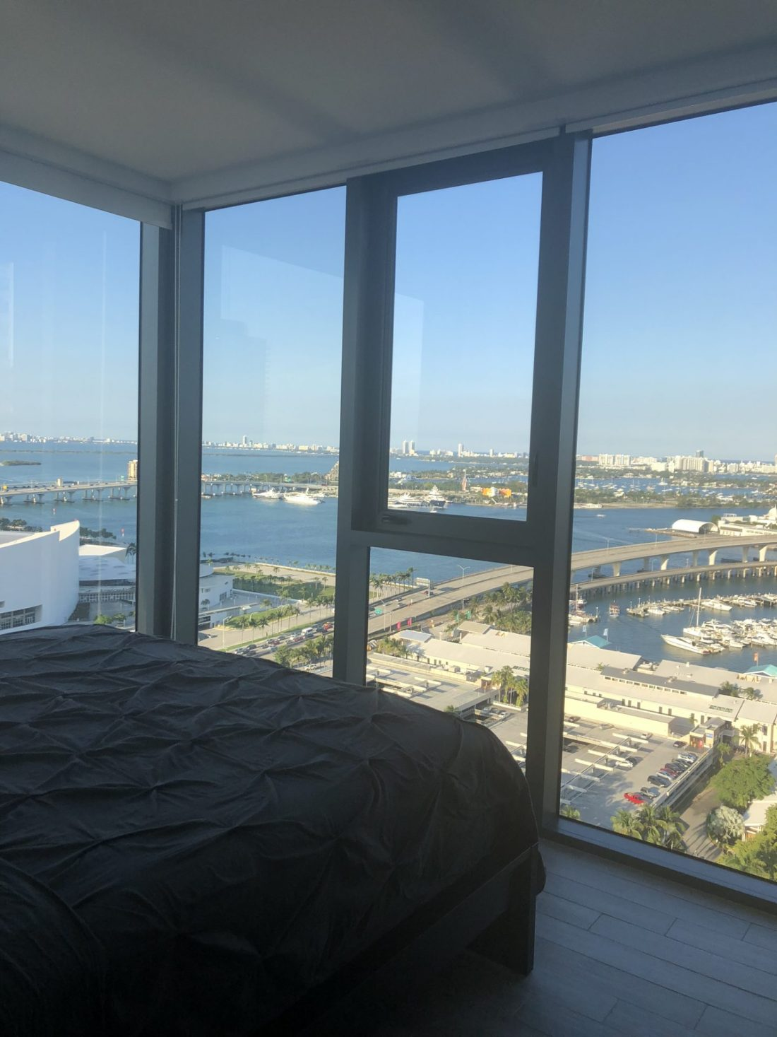 Views of Miami from the bedroom