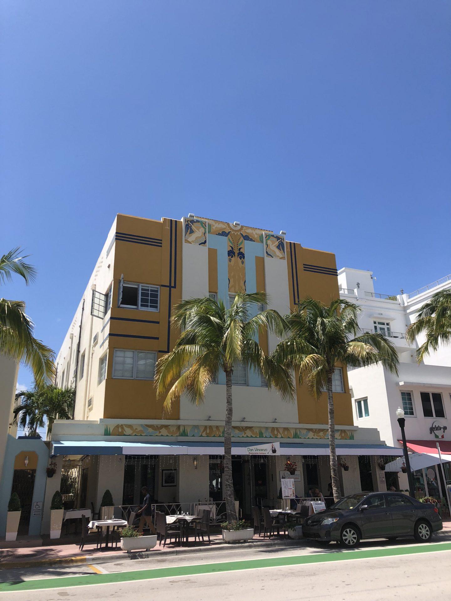 Art deco buildings on Ocean Drive, Florida