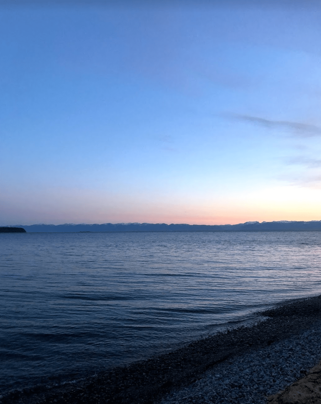 Powell River oceanfront, BC
