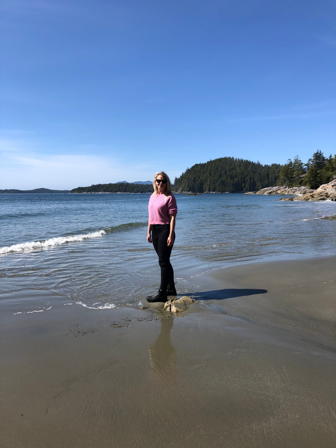 Laura on Tonquin Beach, Tofino