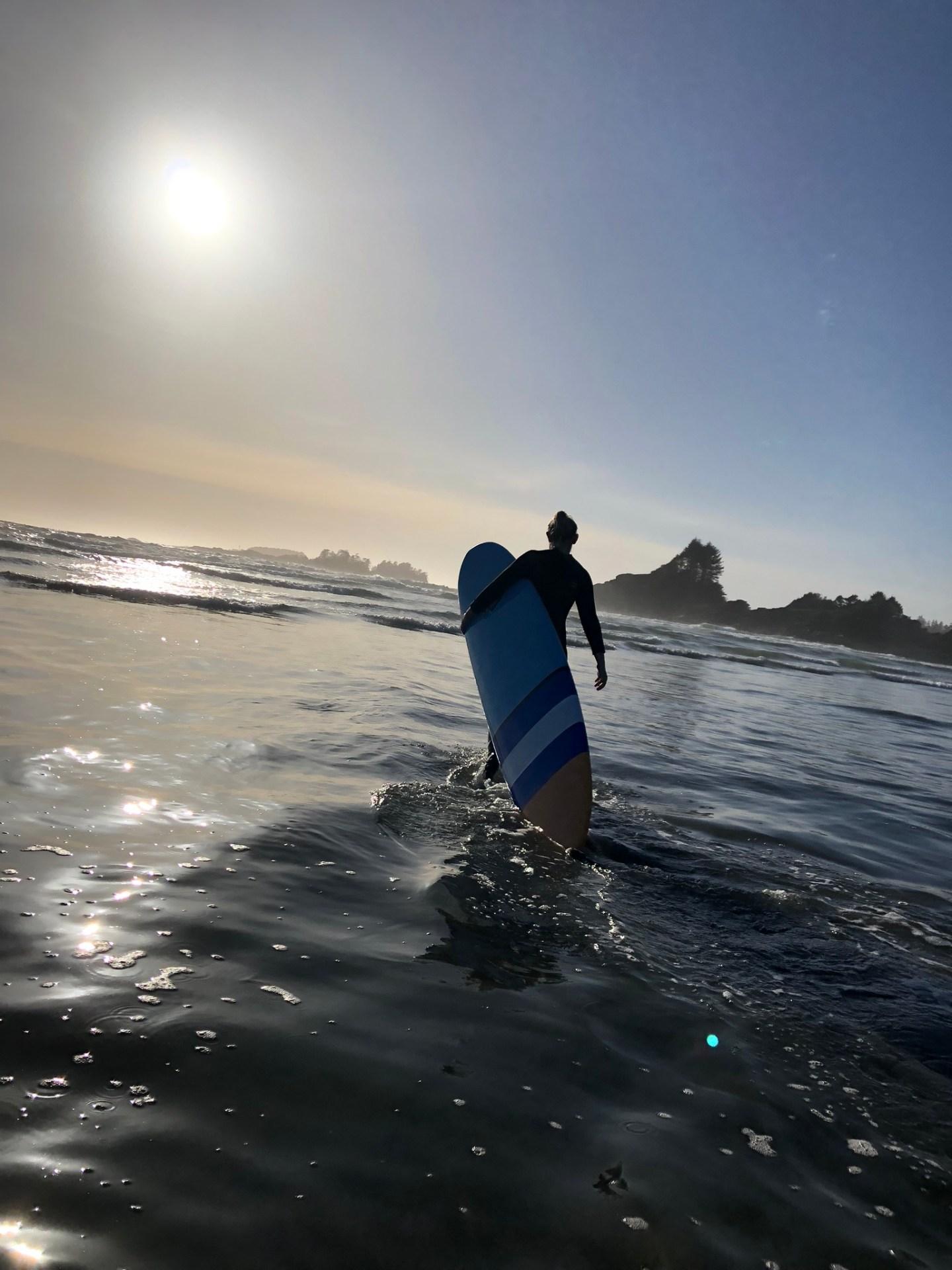 Surfing in Tofino