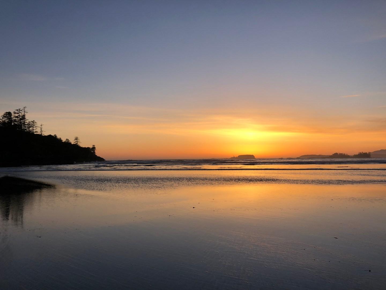 Sunset on Cox Bay Beach, Tofino