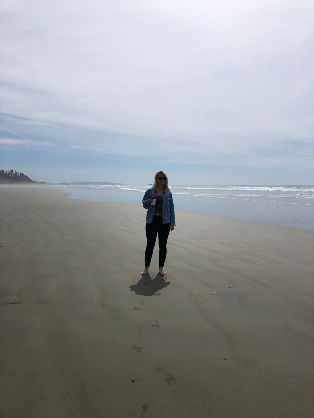 Laura on Long Beach, Vancouver Island
