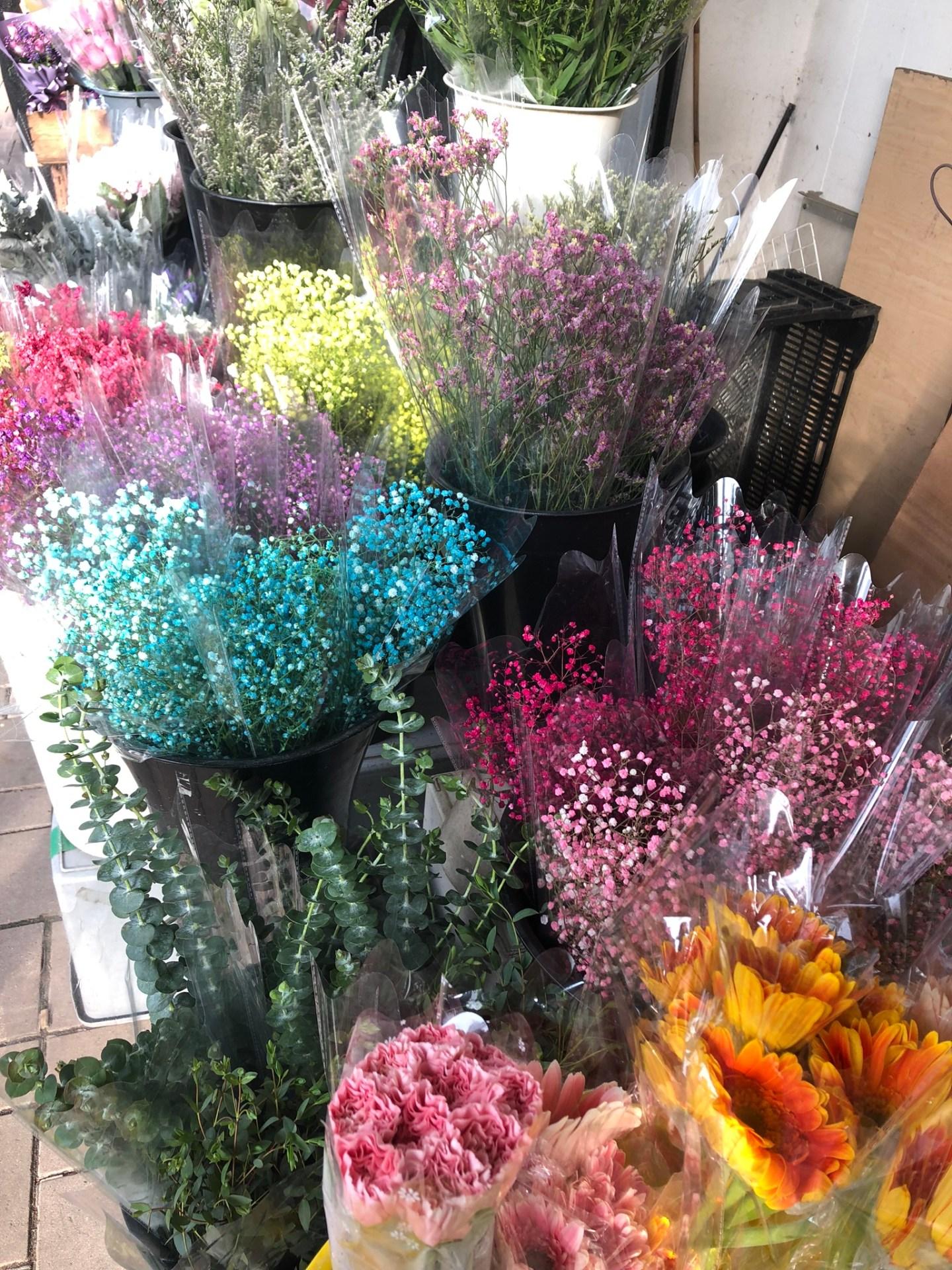 Bouquets at Hong Kong Flower Market