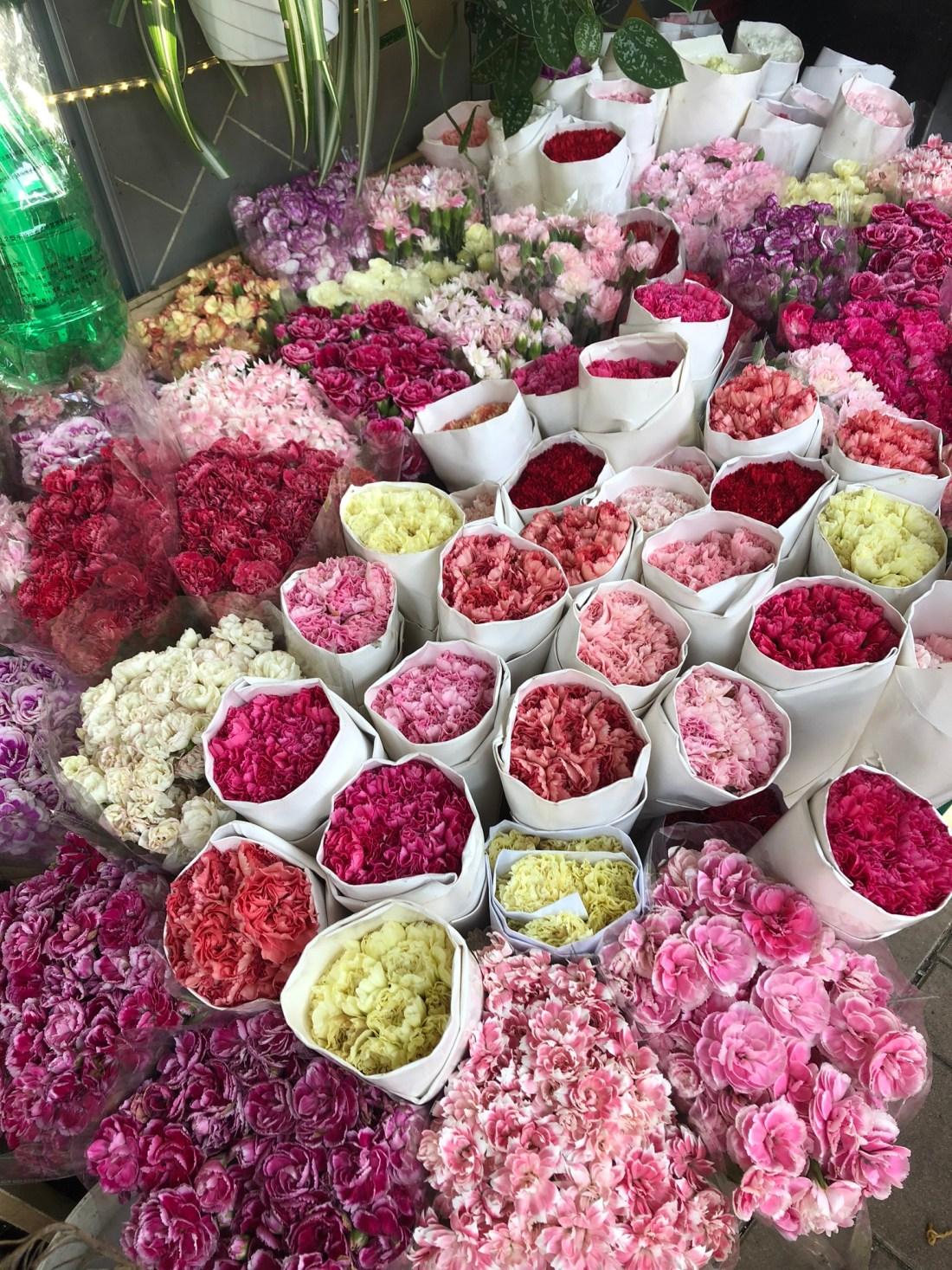 Bouquets at Mong Kok Flower Market, Hong Kong