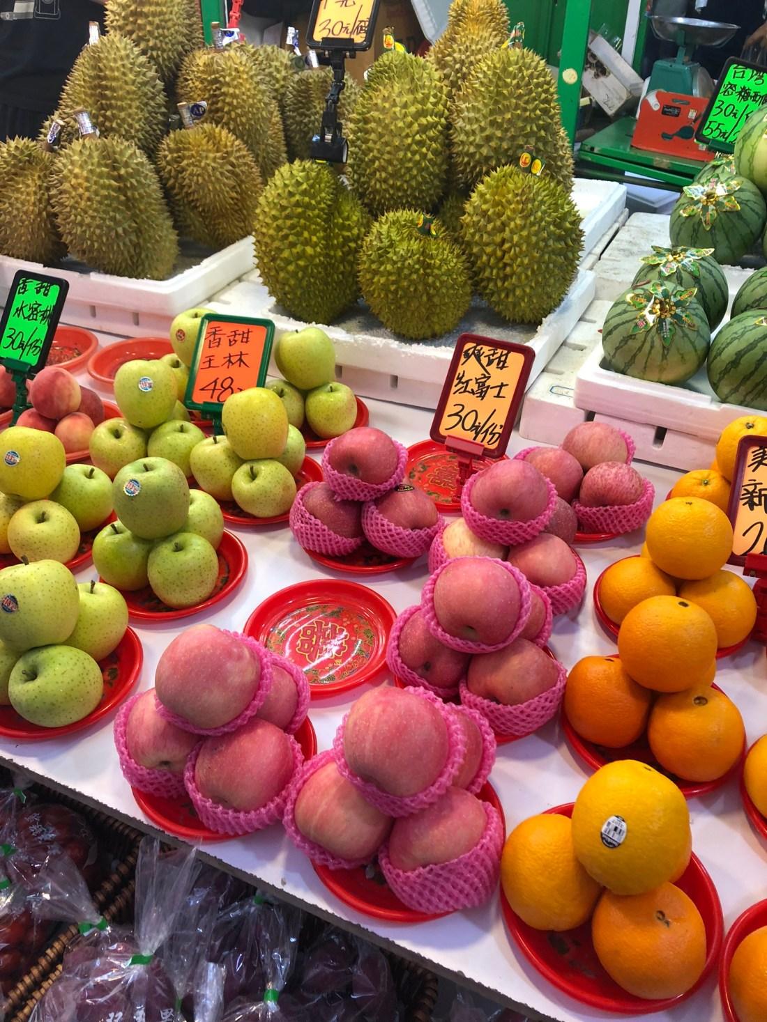 Fruit for sale in Mong Kok, Hong Kong
