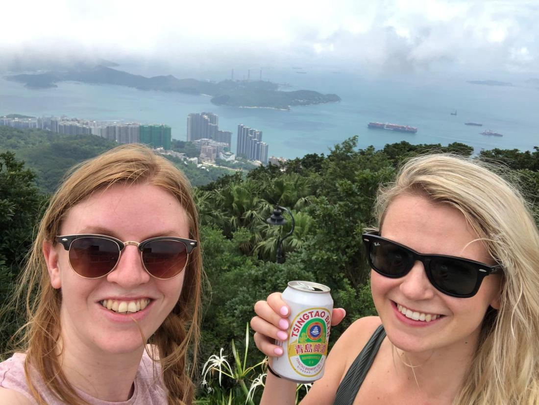 Girls at Victoria Peak, Hong Kong