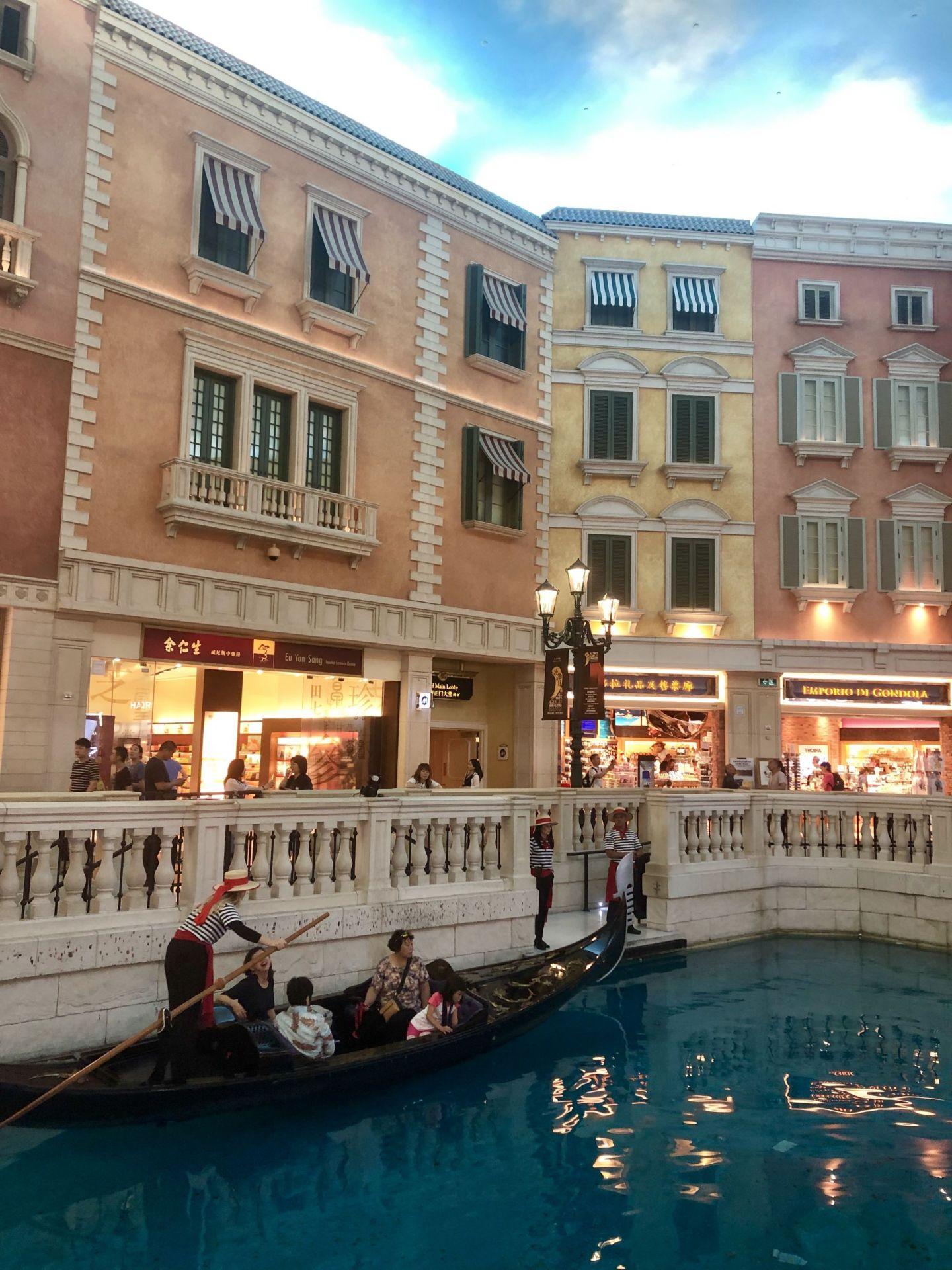 Gondolas at the Venetian Macau, Cotai Strip