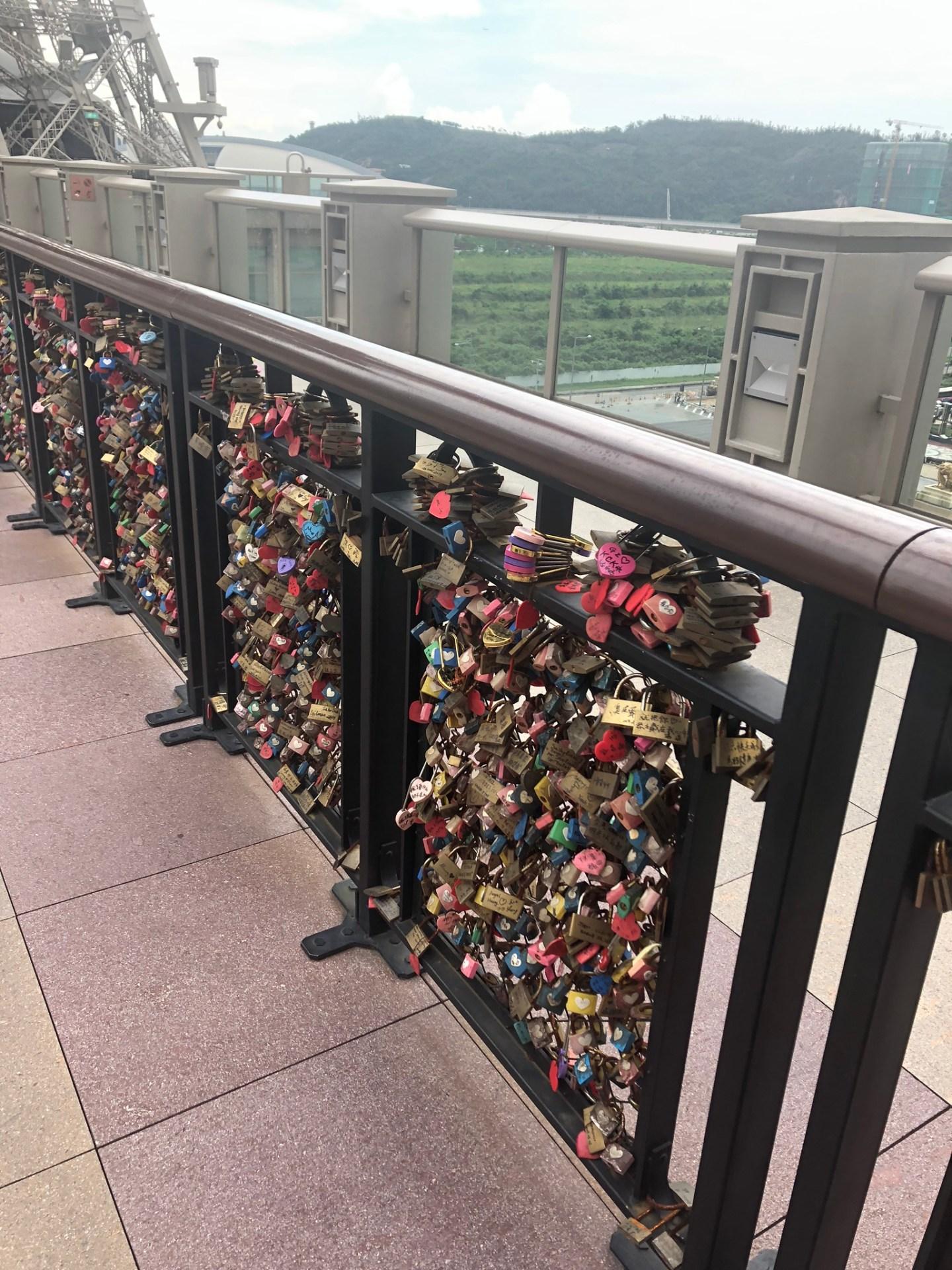 Love locks at the Parisian Macau, Cotai Strip