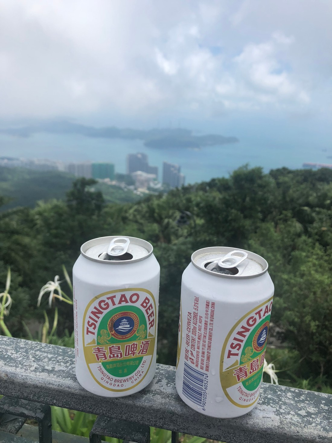 Beers with a view at Victoria Peak, Hong Kong