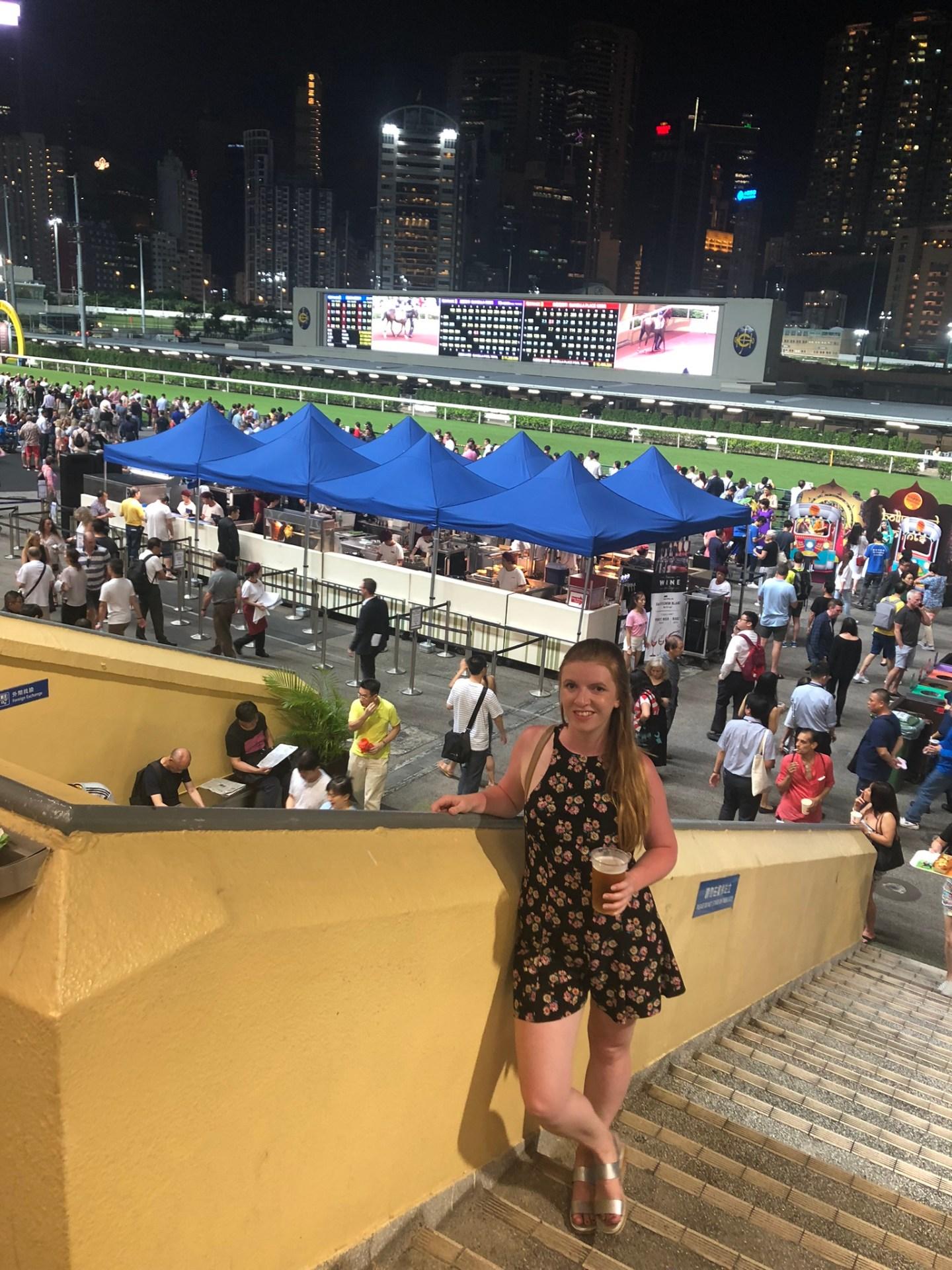 Girl at Hong Kong Races