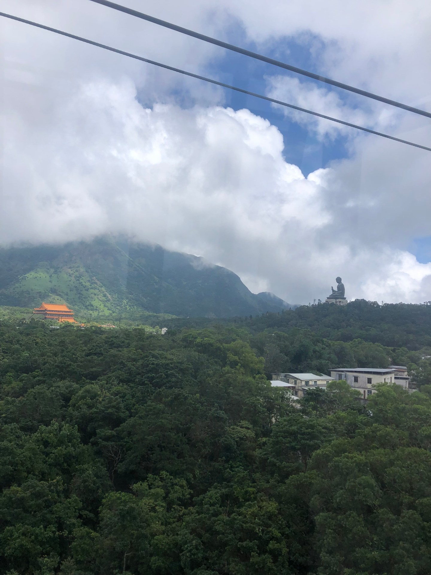 Tian Tan Buddha from the Ngong Ping 360 gondola