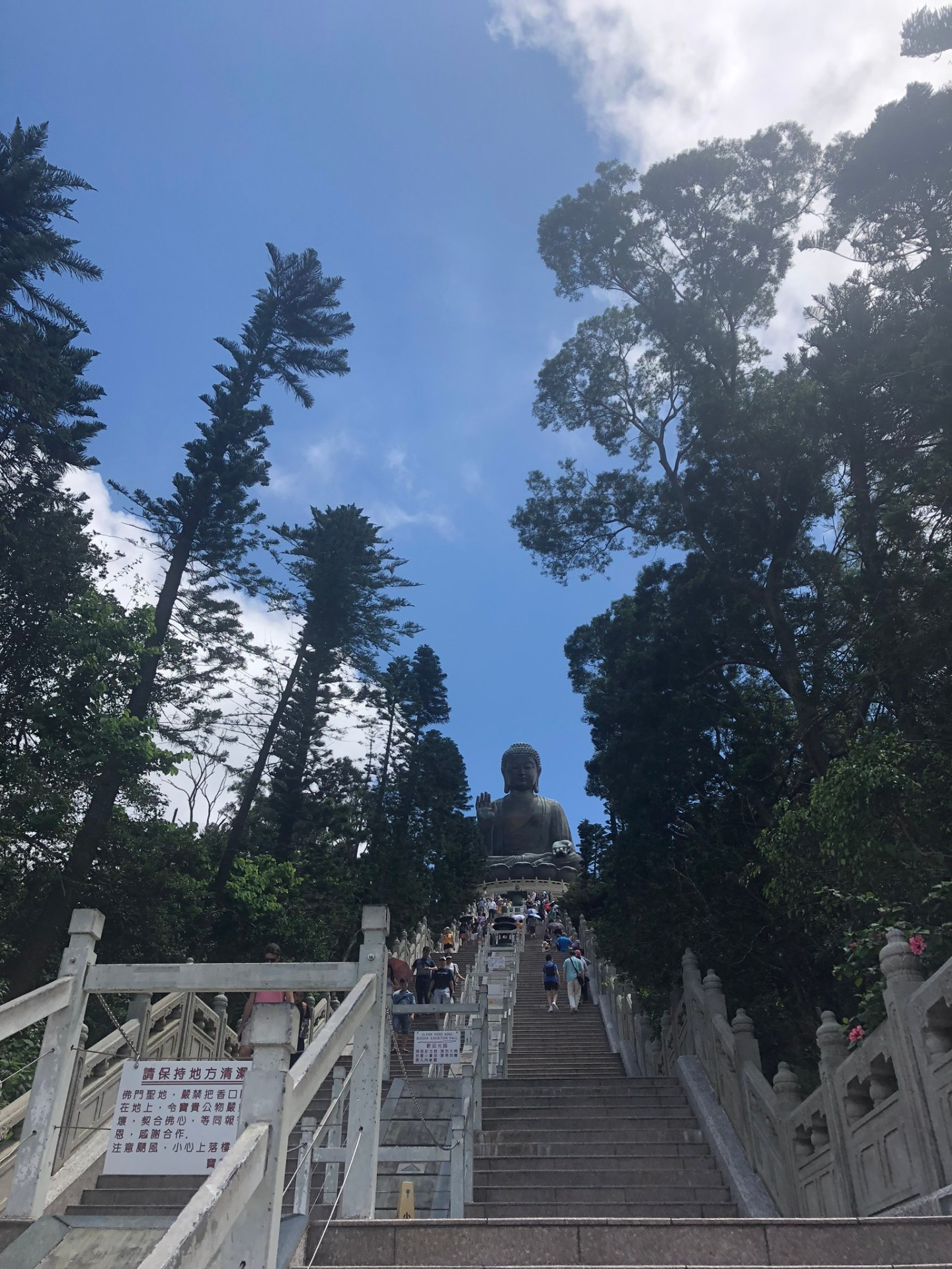 Steps up to Tian Tan Buddha, Lantau Island