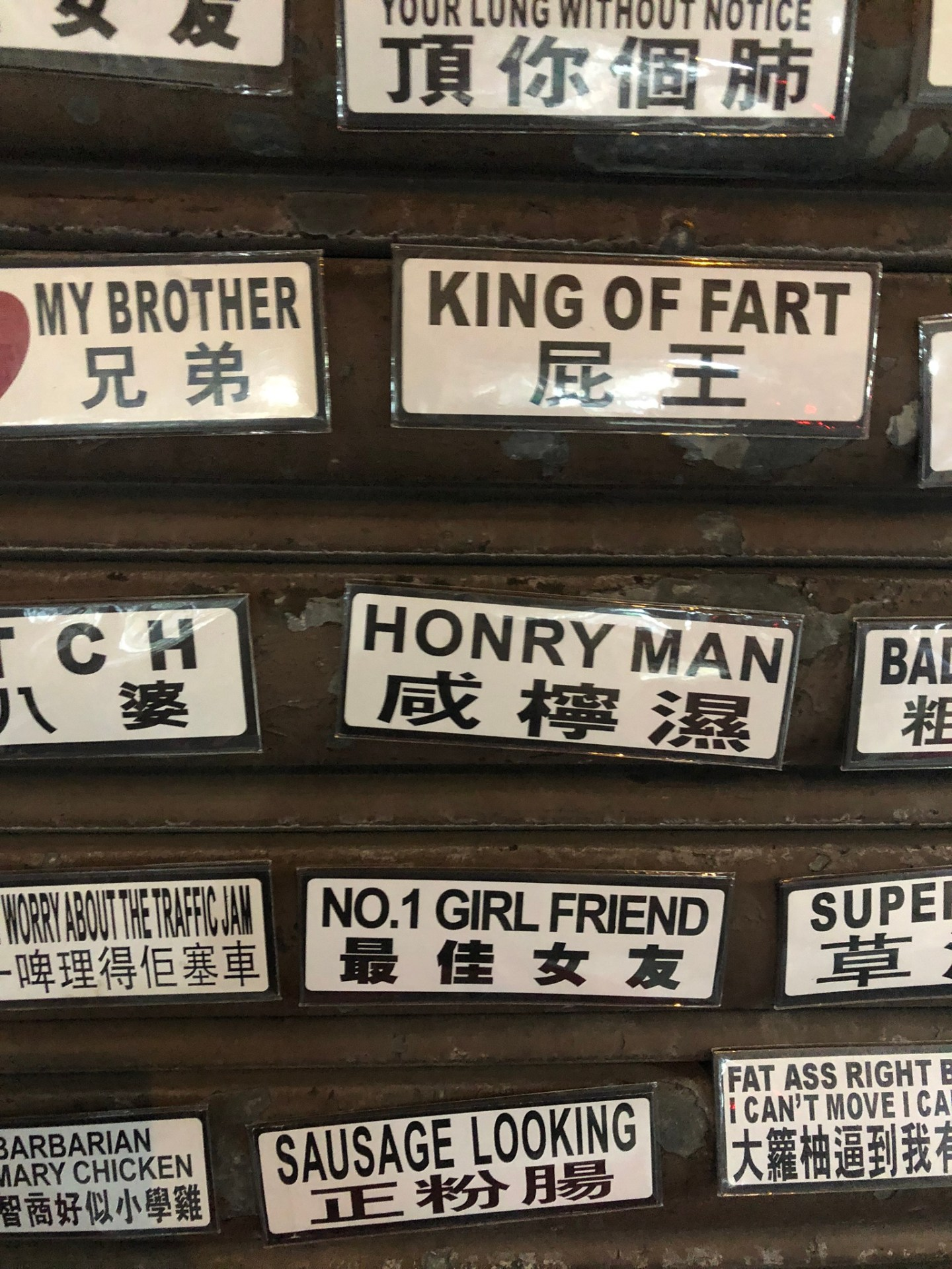Badges for sale in Hong Kong