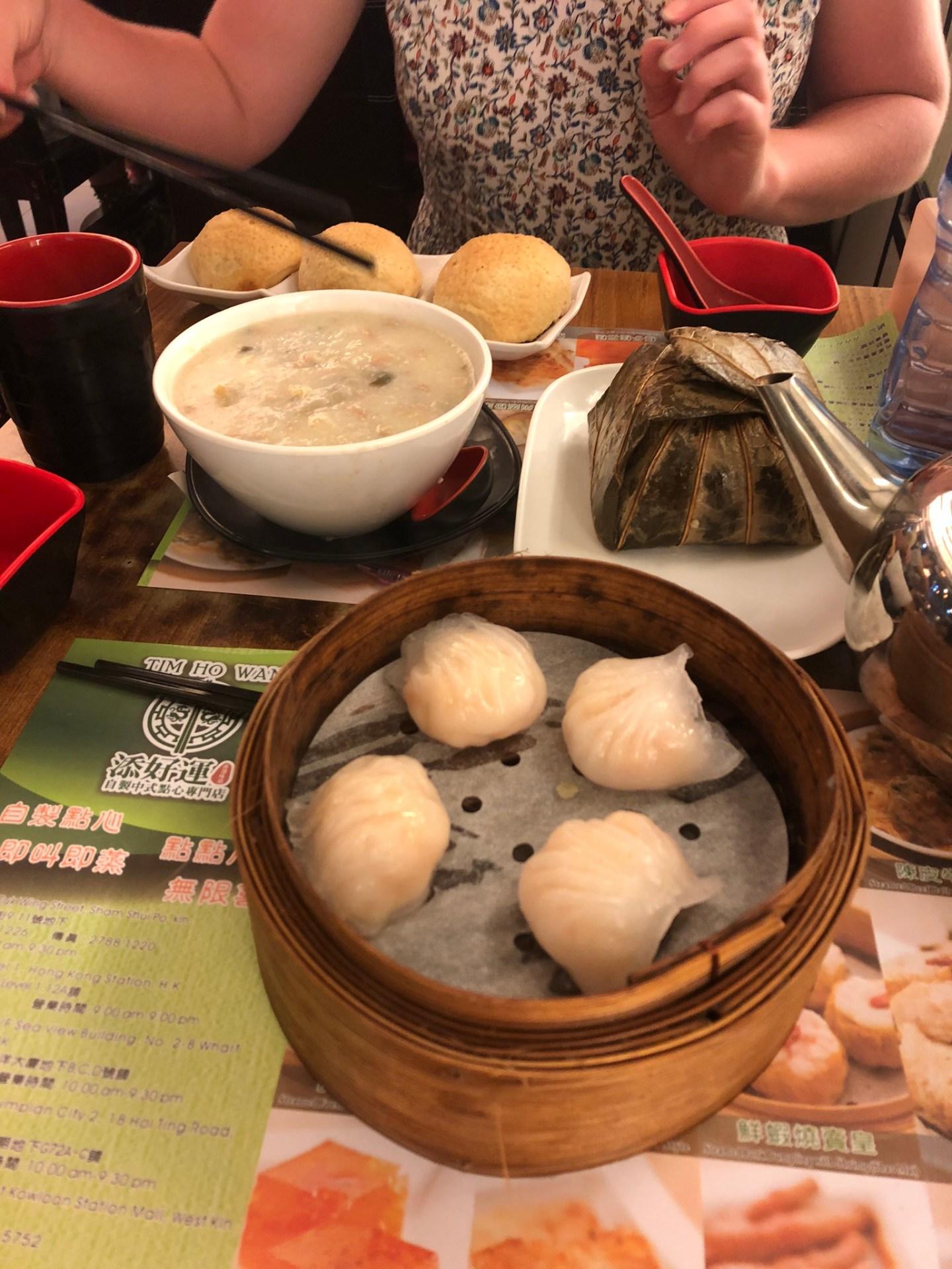 Food at Tim Ho Wan, Hong Kong