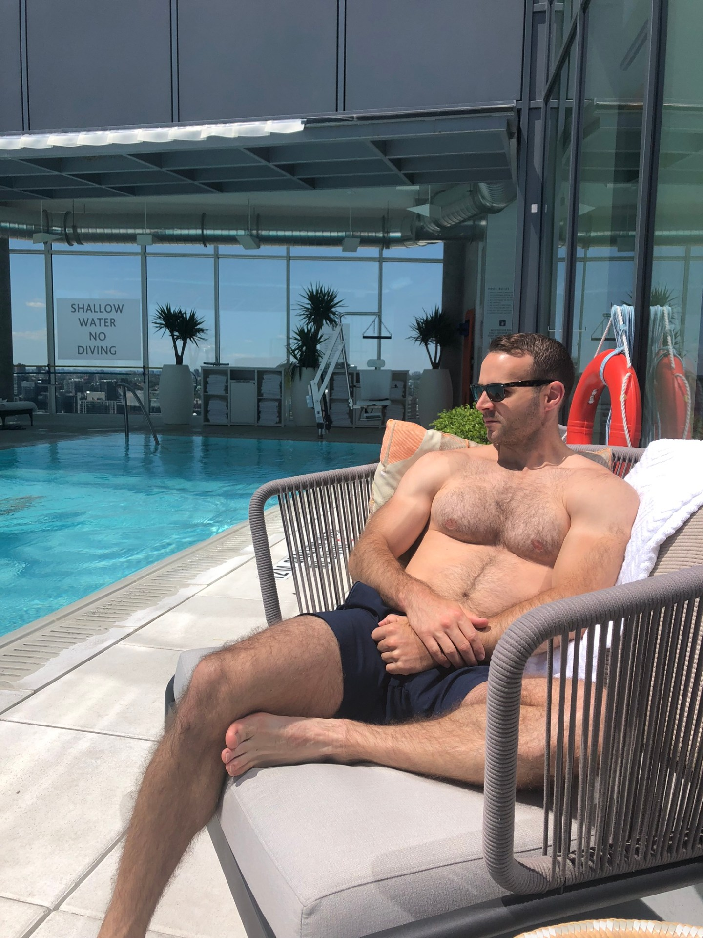 Summer in Toronto: sunbathing at a rooftop pool