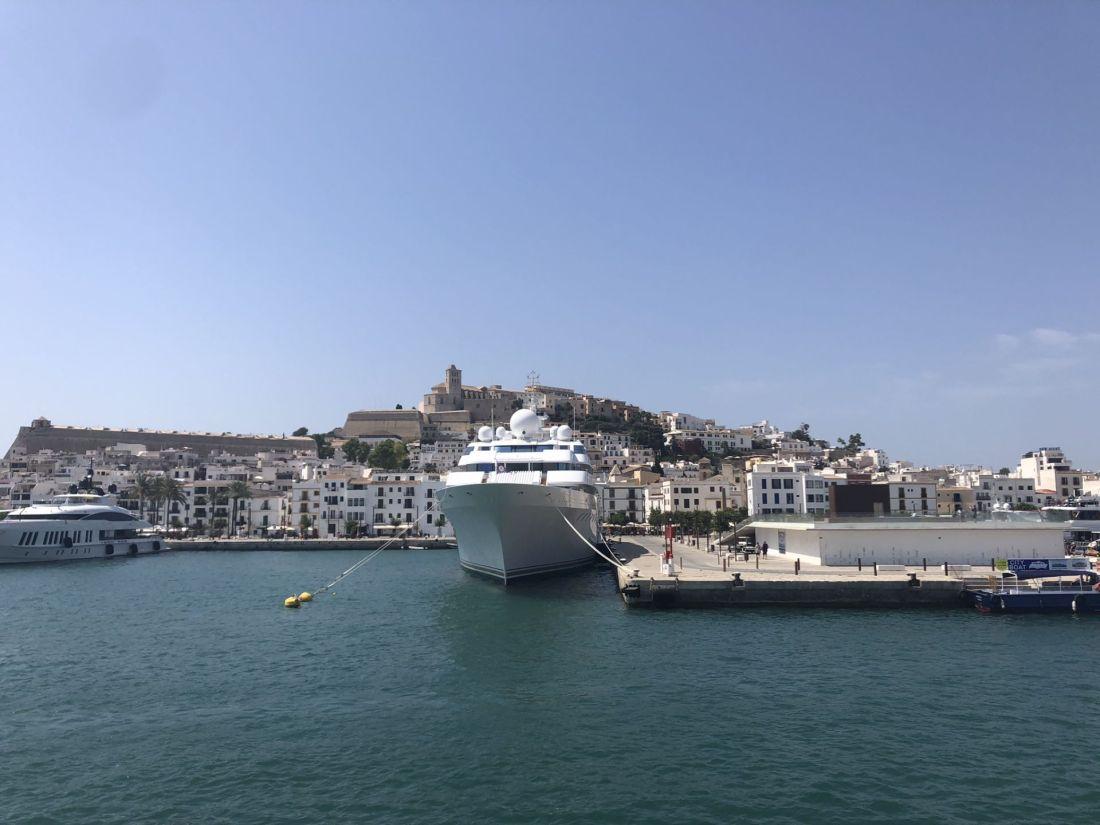 Yachts near Ibiza Town, Spain