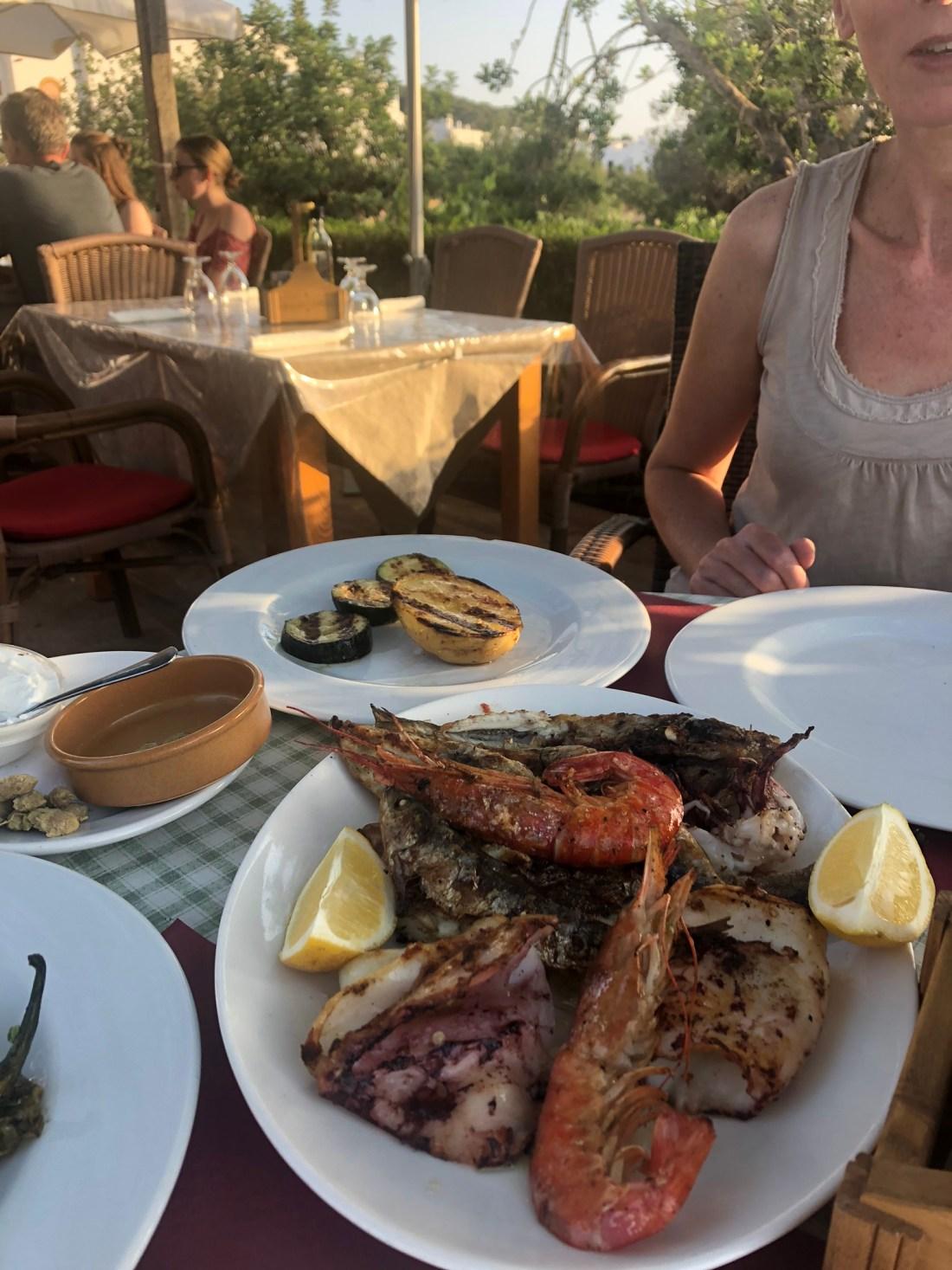 Fresh seafood in Ibiza, Spain