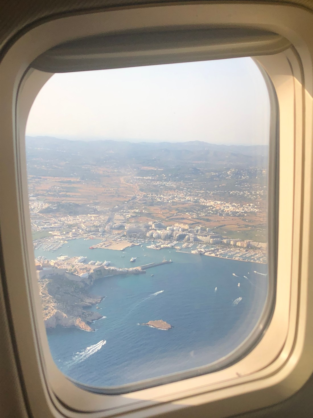 View of Ibiza from the plane