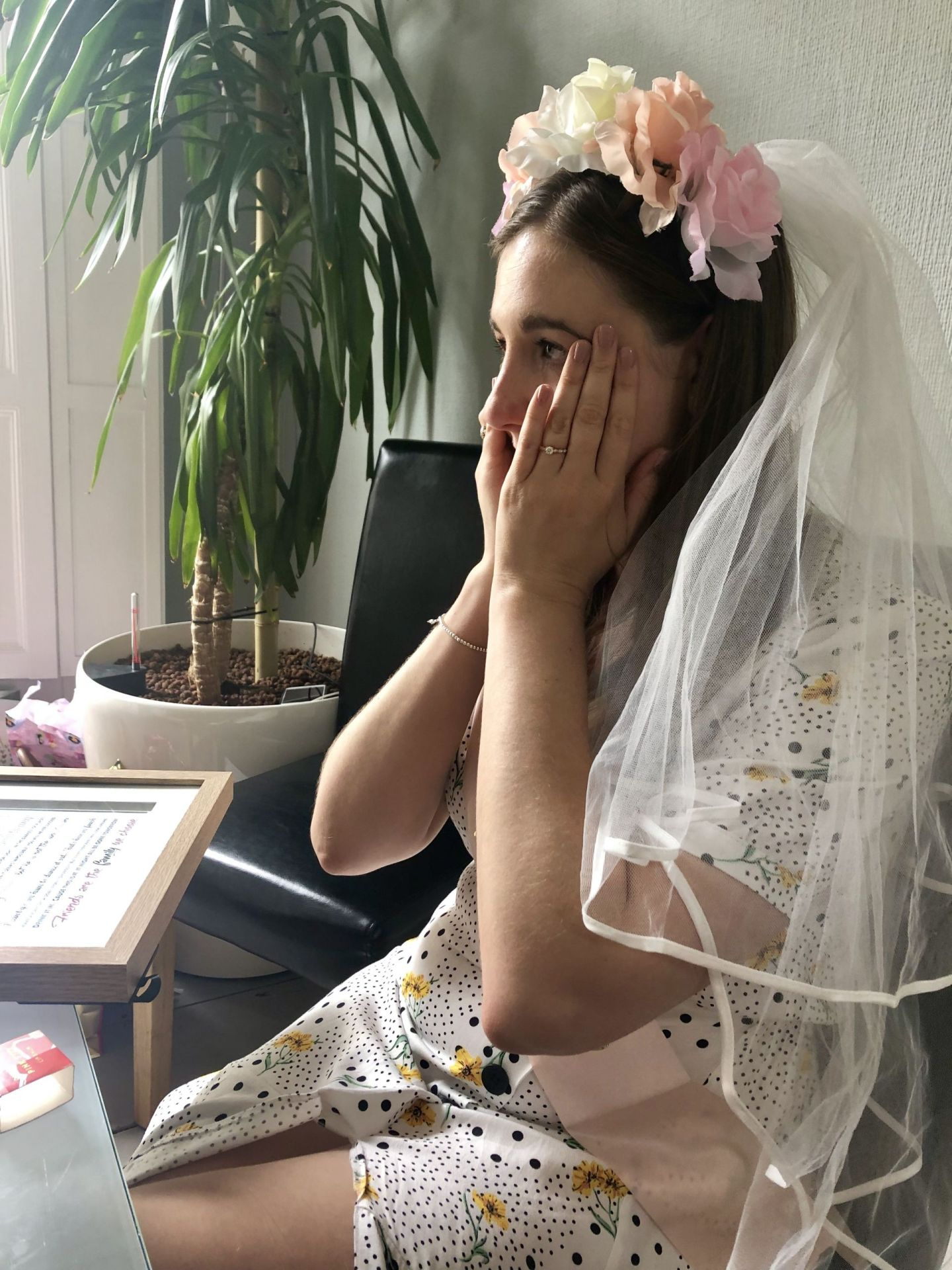 Bride to be at her hen do