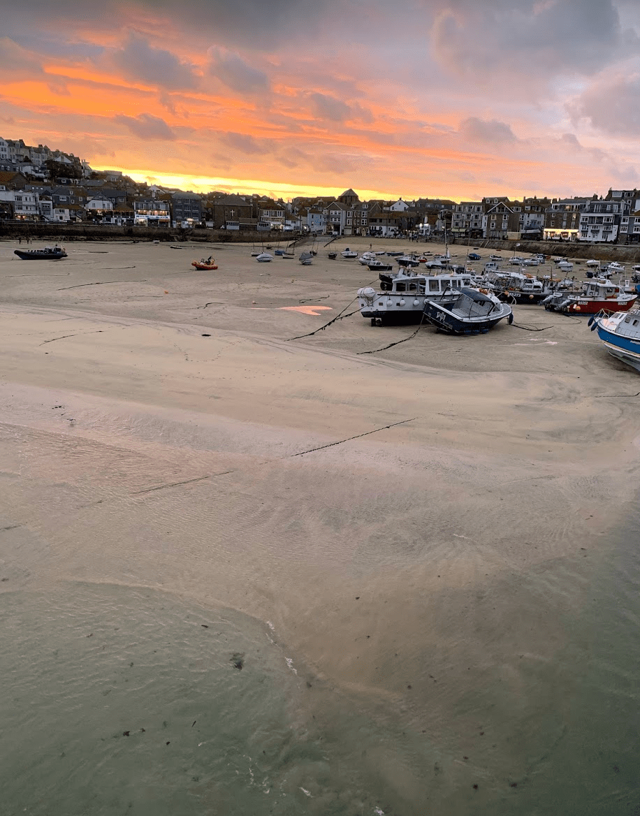 Sunset over St Ives, Cornwall