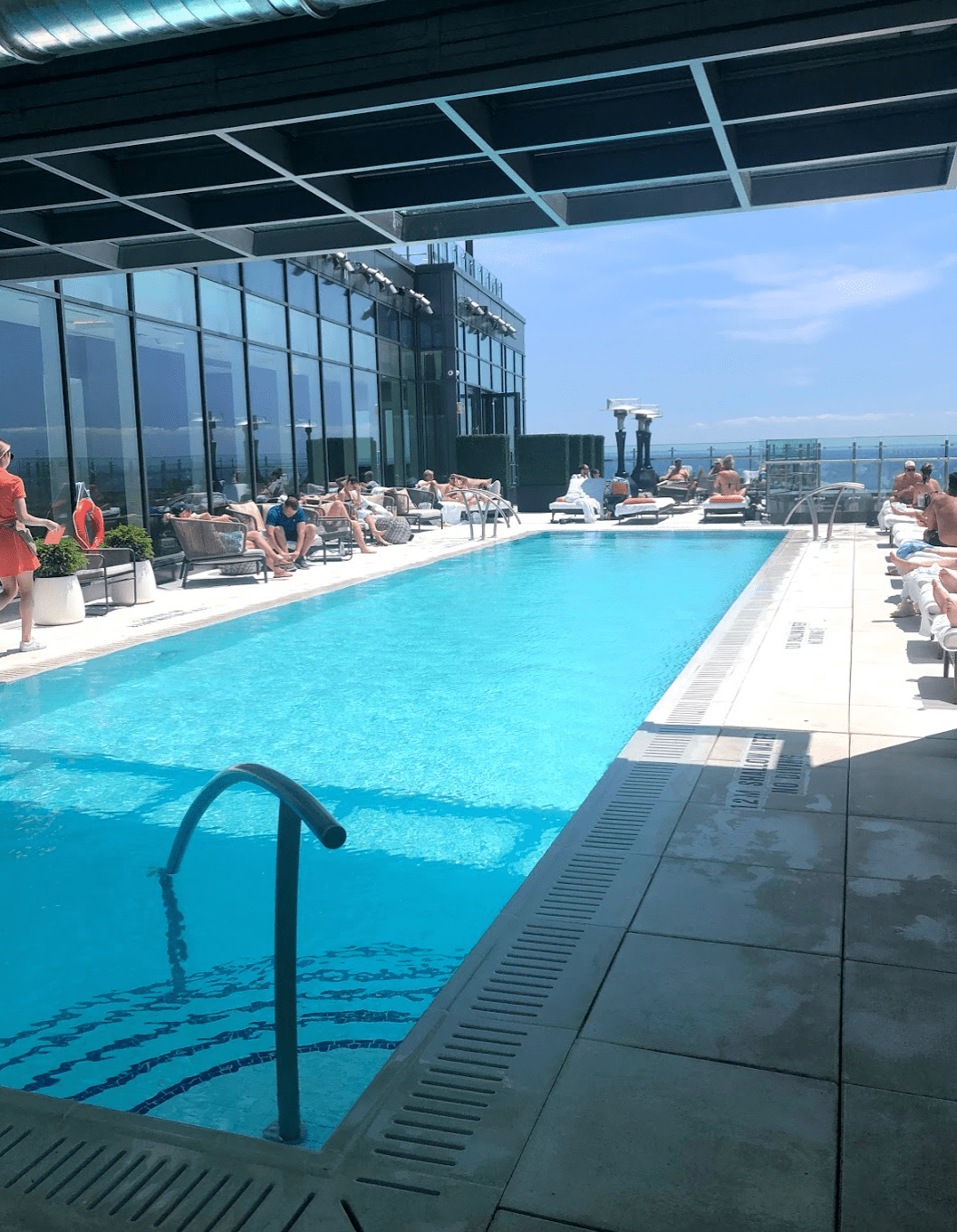Poolside in Toronto, Canada