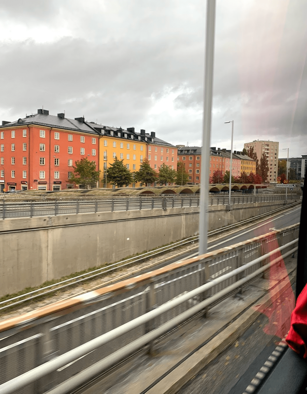 Houses on the drive into Stockholm, Sweden