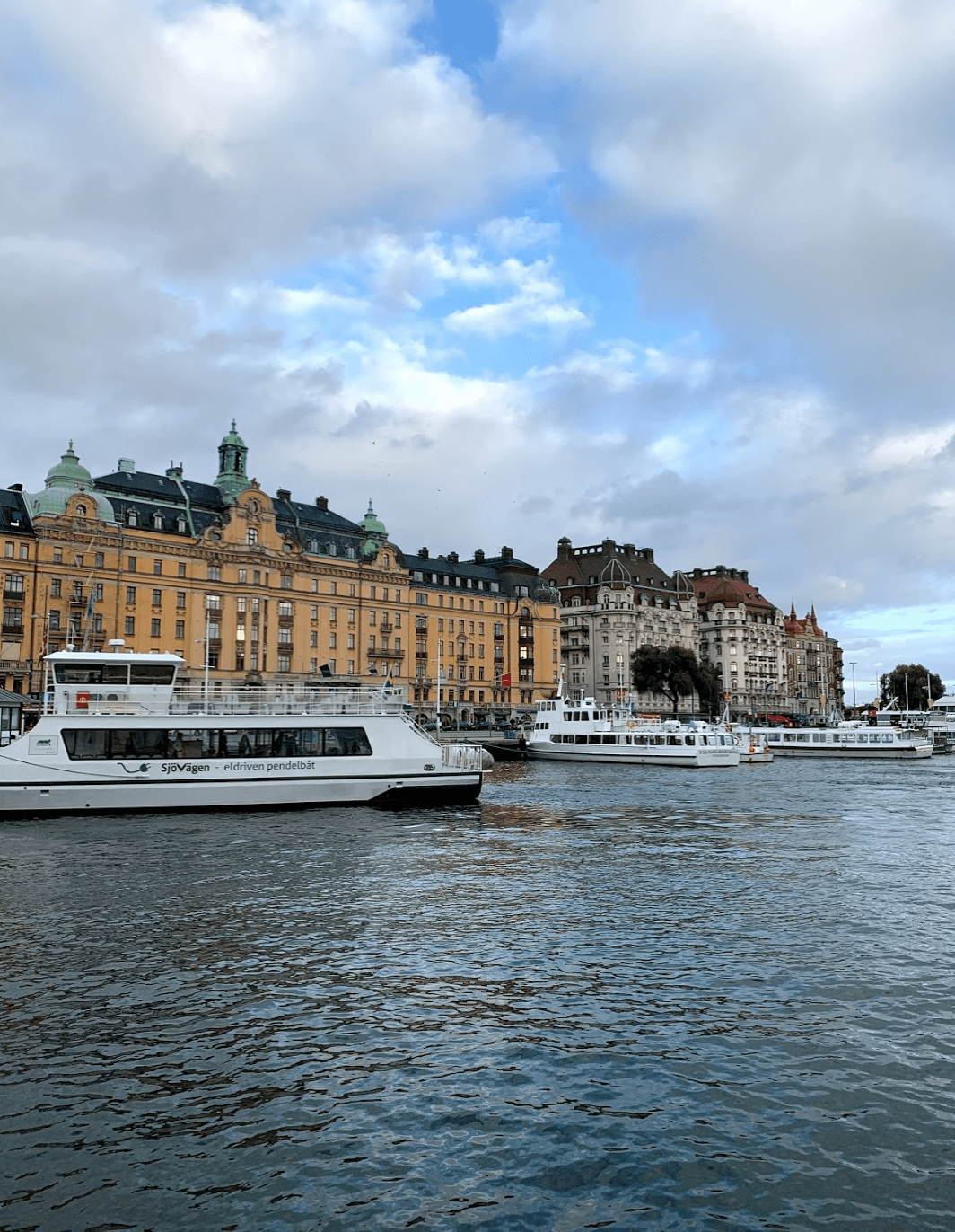 Views of the water in Stockholm, Sweden