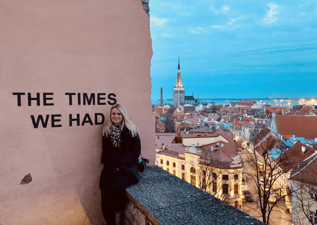 The Times We Had wall at Kohtuotsa viewing platform in Tallinn, Estonia