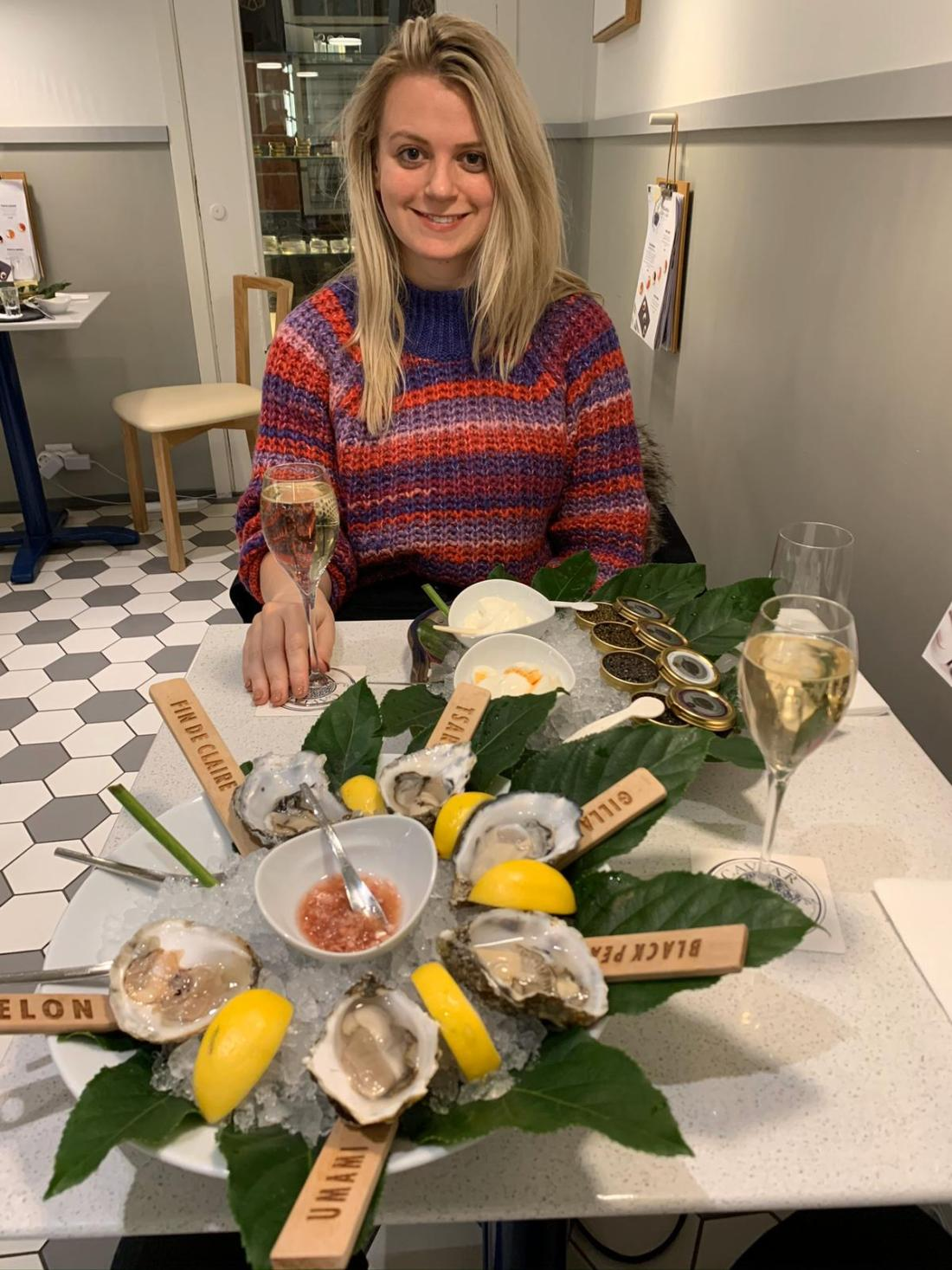 Oysters at Finlandia Caviar, Tallinn