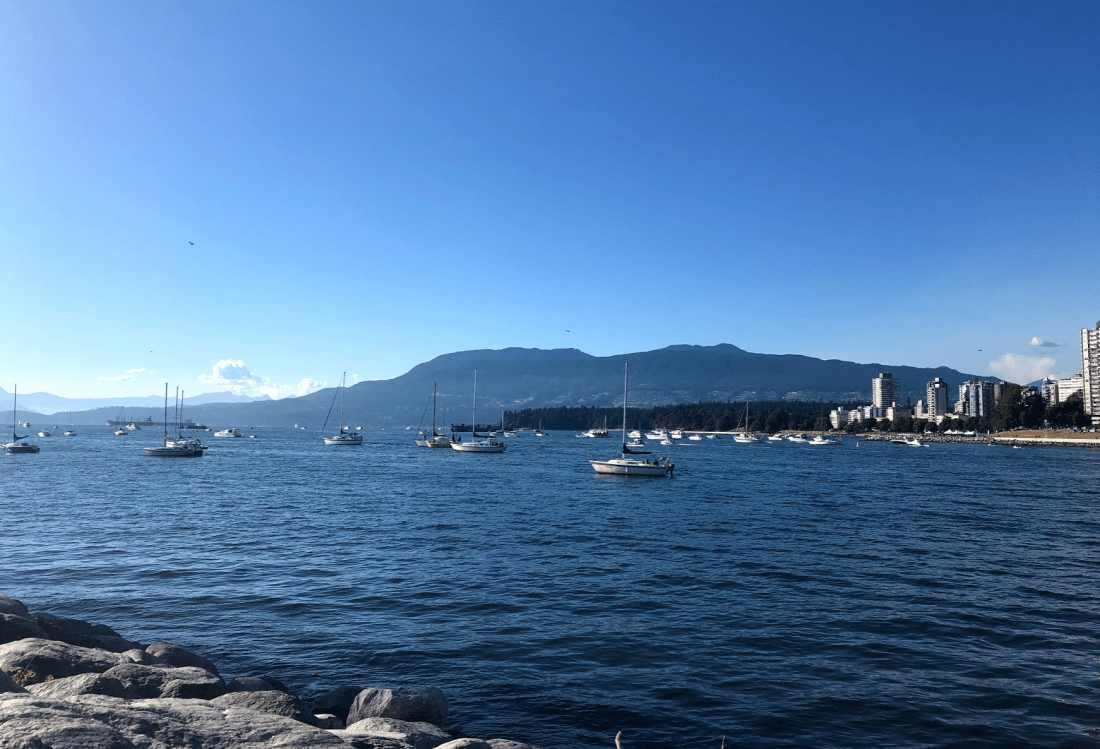 The mountains of Vancouver, Canada