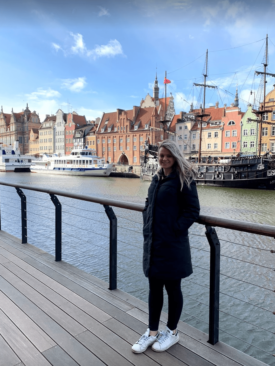 Laura by the water in Gdansk