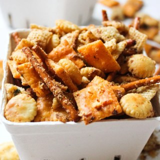 Cheesy Brown Butter Chex Mix Recipe
