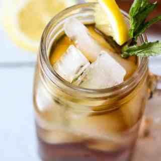 Peach Tea Mint Juleps