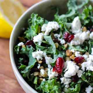 Kale Salad with Goat Cheese