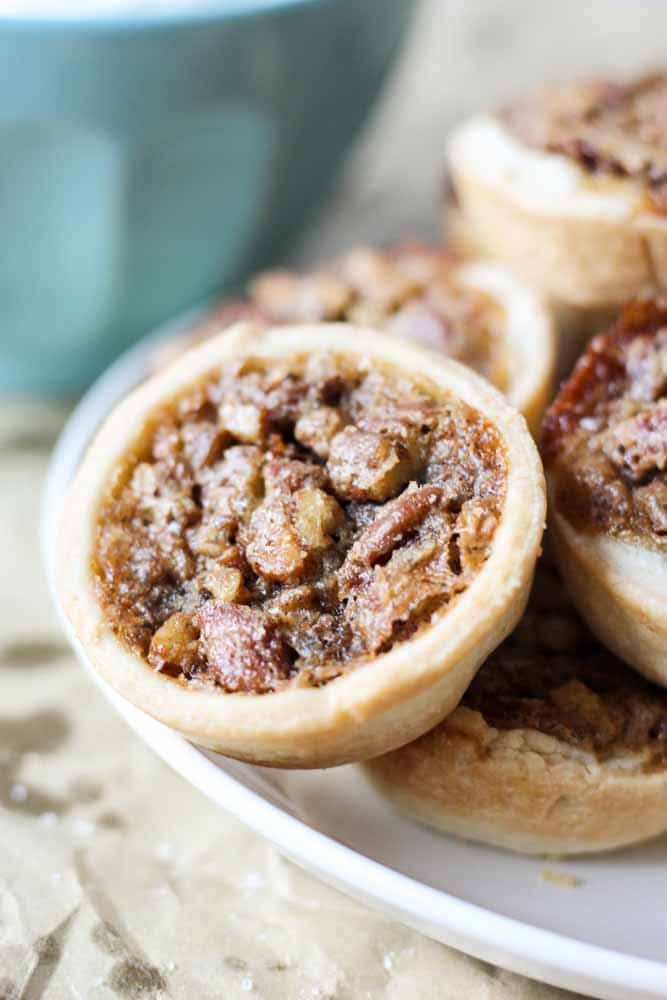 mini pecan pie tarts