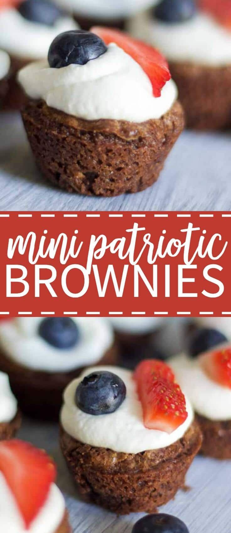 The bite-sized desserts, patriotic recipes and Fourth of July celebrations are upon us! And these mini patriotic brownies fit the bill. With just the right amount of chocolate and chewiness, these little guys satisfy chocolate cravings in one bite. And the sweet topping with fresh fruit is just perfect, and I couldn't love it more.