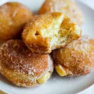 Brioche Doughnuts with Vanilla Pastry Cream