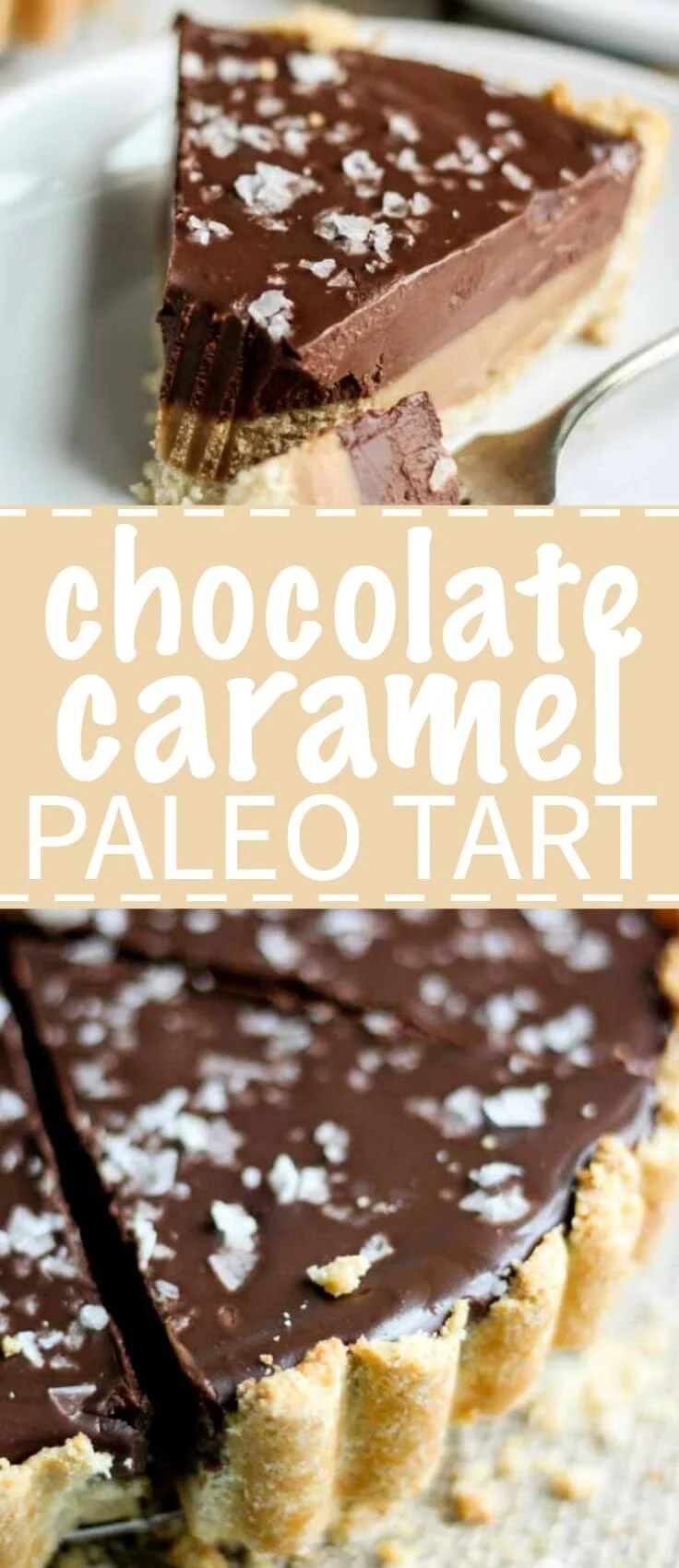 This chocolate caramel tart is paleo, gluten-free and vegan. Aka no refined sugar, no grains no unhealthy fats and yet, it has all the flavor and them some.