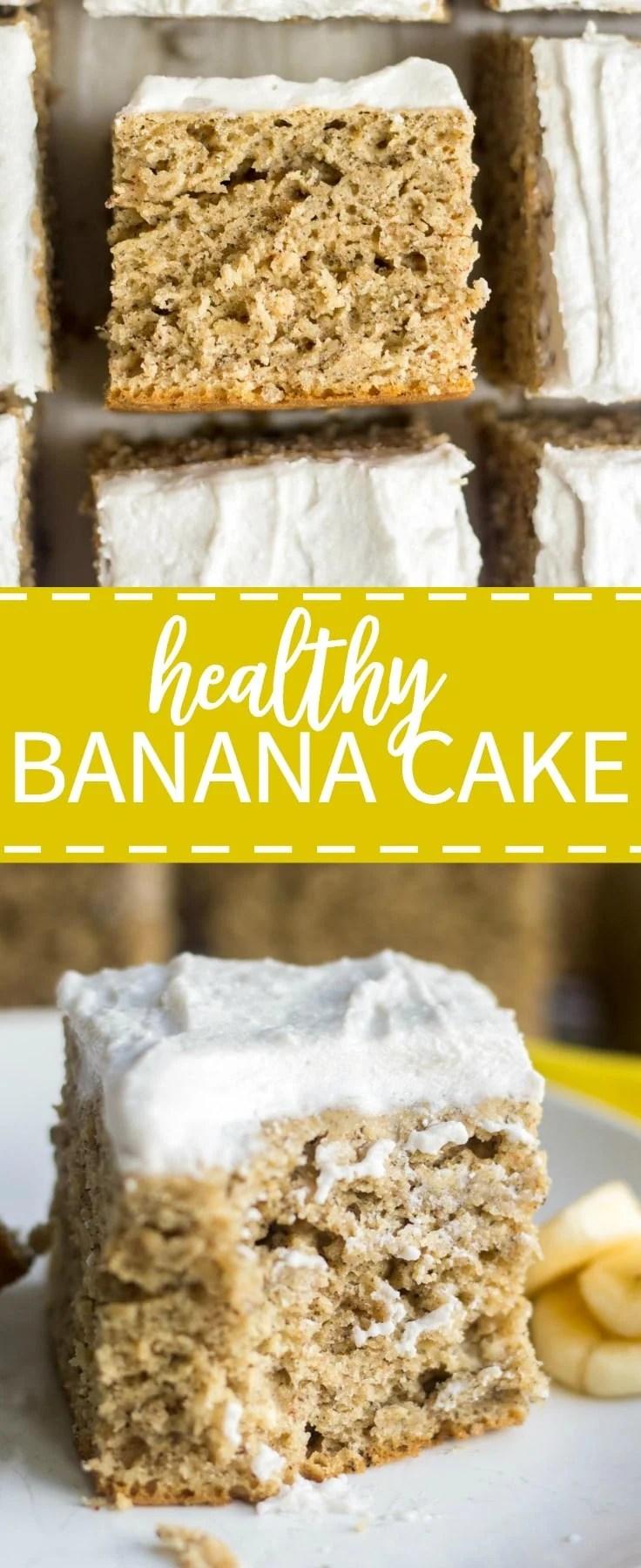Healthy Banana Cake What Molly Made