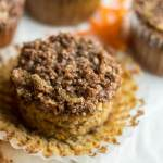 Paleo Cinnamon Streusel Carrot Muffins