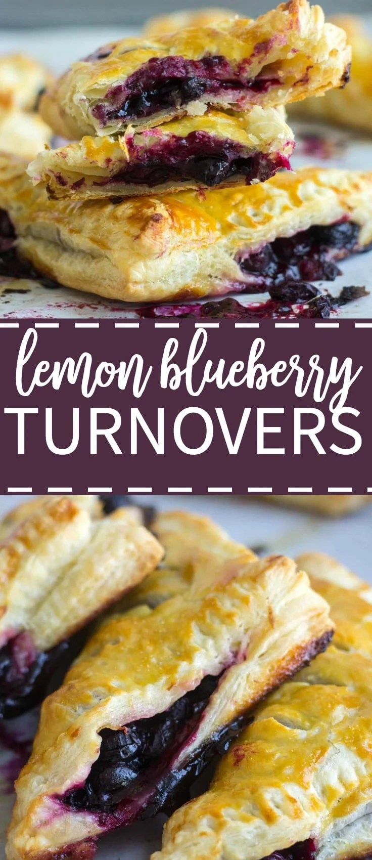 These flaky lemon blueberry turnovers are made with frozen puff pastry so they're easy to make. They're fill with fresh blueberries, lime juice and zest and baked to golden brown perfection. They're they best mixture of sweet and tart!