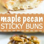 Maple pecan sticky buns are sweet, soft and filled with fall flavors. They're easy to make ahead of time and they will definitely impress all your family and guests.
