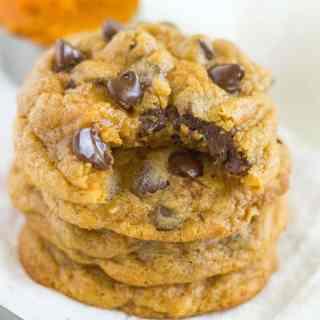 Pumpkin Spice Pudding Cookies