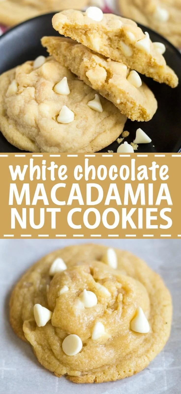 Thick, soft and chewy, these white chocolate macadamia nut cookies are a delicious addition to your cookie list. They're so easy to make and they freeze really well!