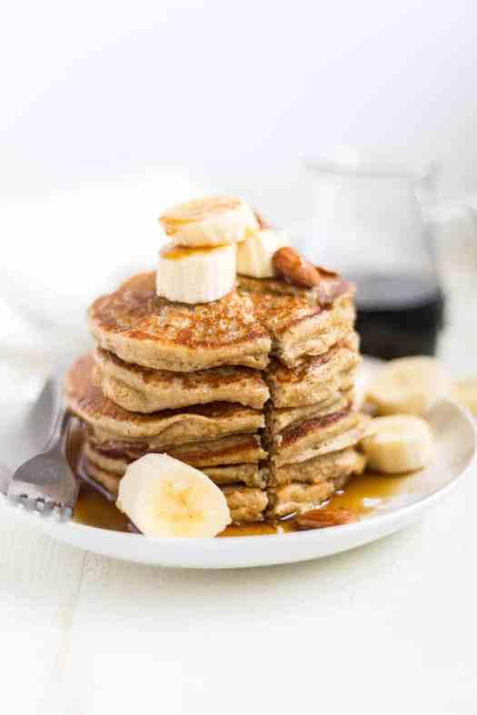 Banana Oatmeal Pancakes [Gluten Free | Blender] | What Molly Made